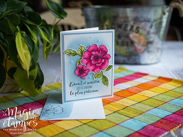 carte avec le lot Rose sauvage Stampin' Up!