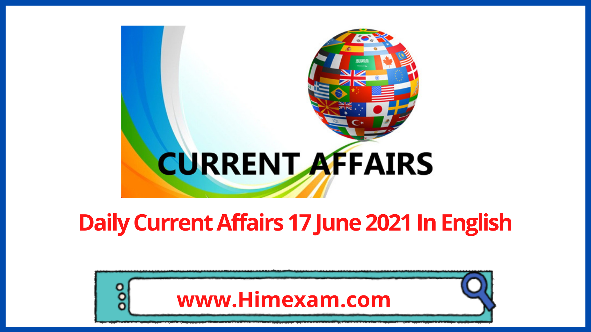 Daily Current Affairs 17 June 2021 In English