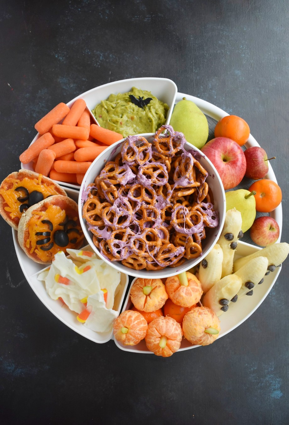 Healthy Halloween Snack Tray