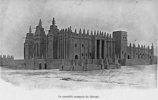 Gran Mezquita Djenné Mali por Dubois 1911