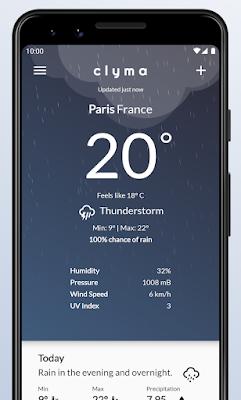 تطبيق Clyma Weather للأندرويد, تطبيق الطقس, تطبيق Clyma Weather مدفوع للأندرويد, تنزيل برنامج الطقس بدون نت,Clyma Weather apk, برنامج الطقس مباشر, خريطة الطقس مباشر, الطقس اليوم, الطقس الآن