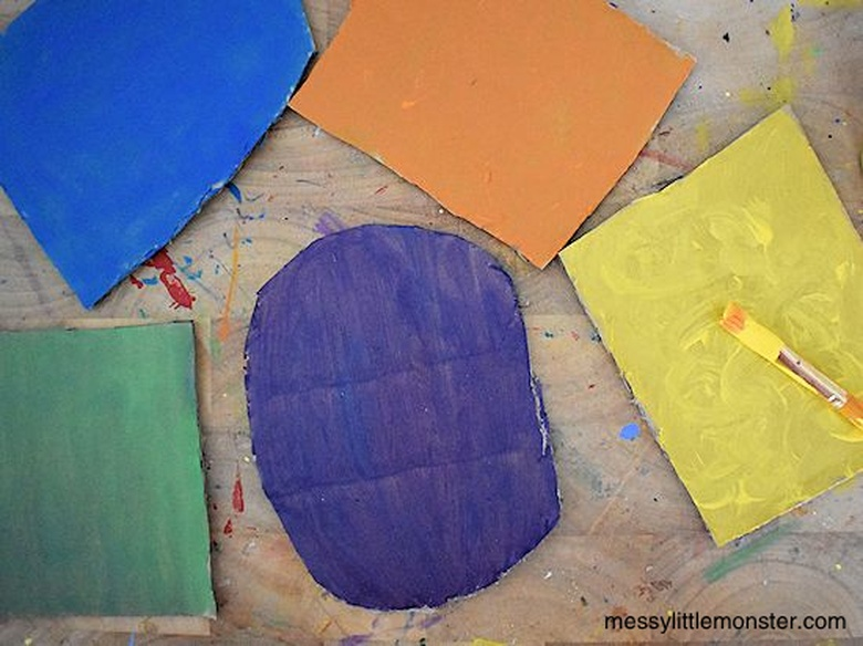 painted cardboard craft for kids