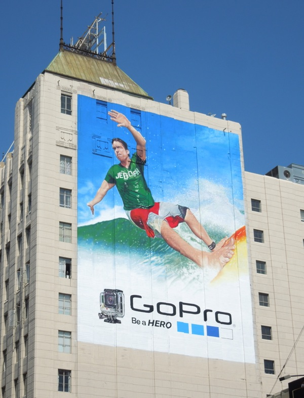 Giant GoPro camcorder surfer billboard
