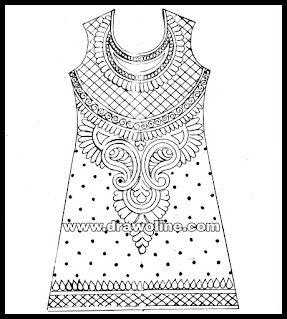 embroidery designs of kurti/kurti design drawings/latest embroidery designs of suits and kurti