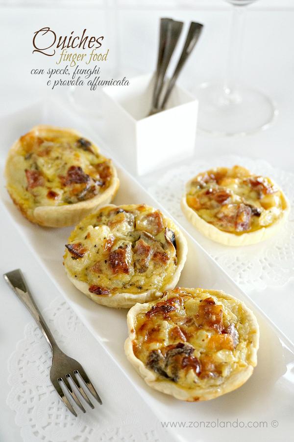 Torta salata Quiche con speck, funghi e provola affumicata ricetta saporita perfetta per cena ospiti finger food aperitivo recipe