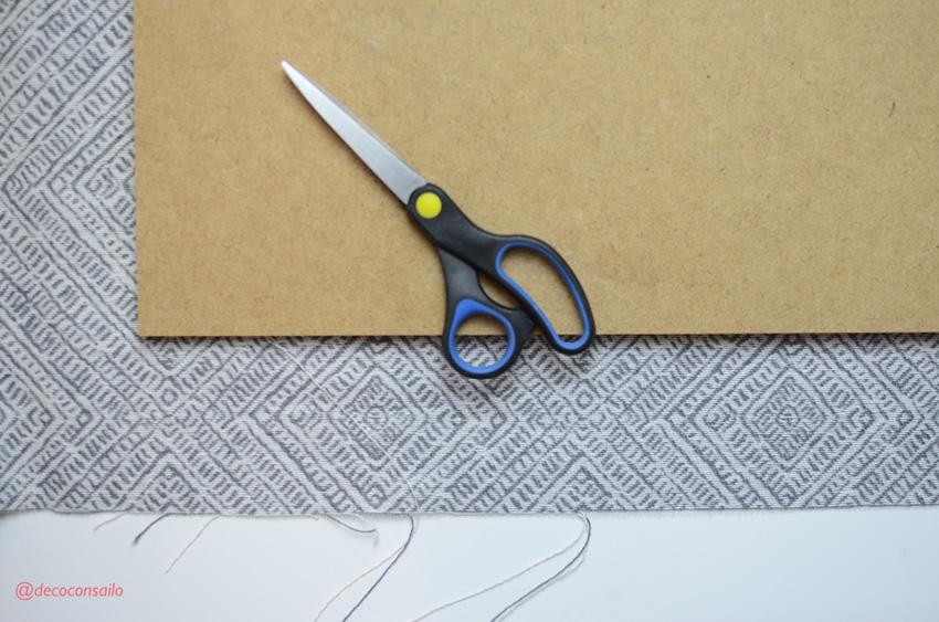 paso 1 diy colgador bisutería: cortar