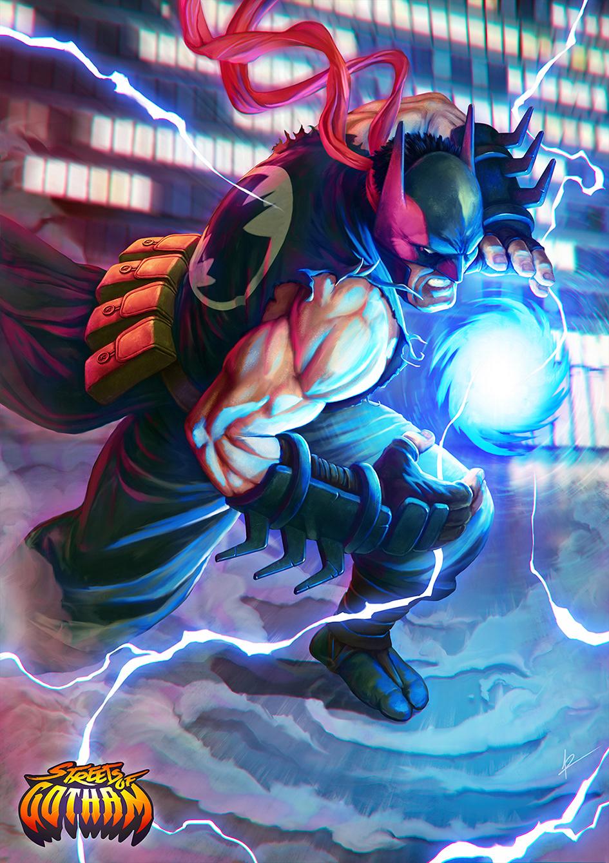 Personagens de Batman se misturam com os de Street Fighter | Streets of Gotham