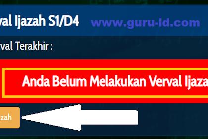 Cara Verval Ijazah di Info GTK PNS & Non PNS