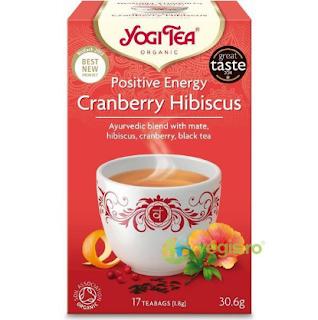 Ceai cu Merisor si Hibiscus Ecologic/Bio 17dz YOGI TEA
