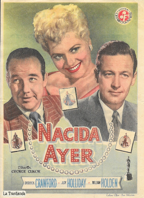 Nacida Ayer - Programa de Cine - Broderick Crawford - Judy Holliday - William Holden