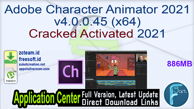 Adobe Character Animator 2021 v4.0.0.45 (x64) Cracked Activated 2021