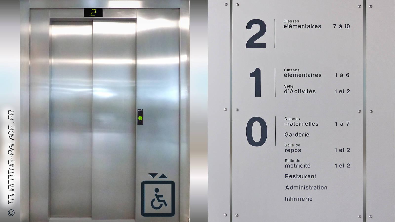 École de Gaulle, Tourcoing - Ascenseur.