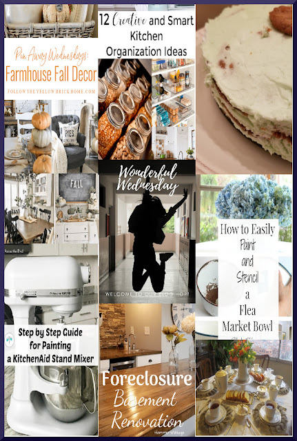 Wonderful Wednesday Blog Hop. Share NOW DIY, crafts, home decor, recipes with bloggers and readers.Tuesday ~ Saturday. 10 hostesses. 7 features. #linkparty #linkparties #WWBH #eclecticredbarn