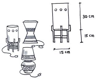 Langkah-Langkah Membuat Jam Dinding dan Lampu Hias dari Tanah Liat