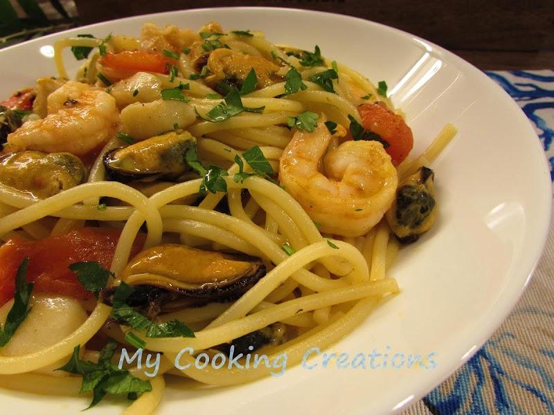 Спагети с морски дарове * Spaghetti ai frutti di mare