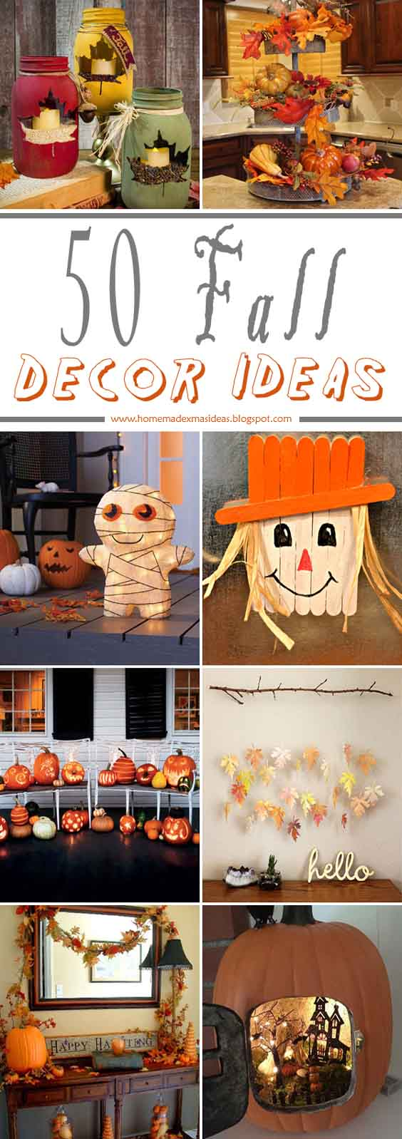 Simple and Cheap Fall Decor Ideas ( 50 Images of Fall Decorations )