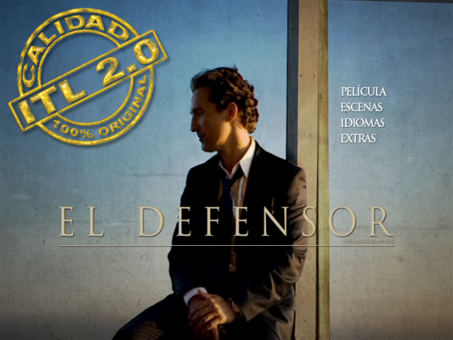 The Lincoln Lawyer [El Defesor] 2011 [DVDR Menu Full] Español Latino [ISO] NTSC