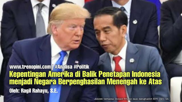 penguasa Indonesia tidak menyadari bahaya kenaikan status Indonesia. Mereka justru bangga dan mencanangkan tahun 2045 yakni saat HUT ke 100 Indonesia akan menjadi negara maju. Padahal status itu bersifat semu. Hanya stempel tanpa makna demi mengabdi pada kepentingan negara penjajah.