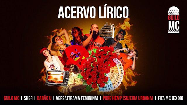 """Guilo Mc, Sher, Barão U, Versa, Pure Hemp & Fita MC liberam a cypher """"Acervo Lírico"""""""