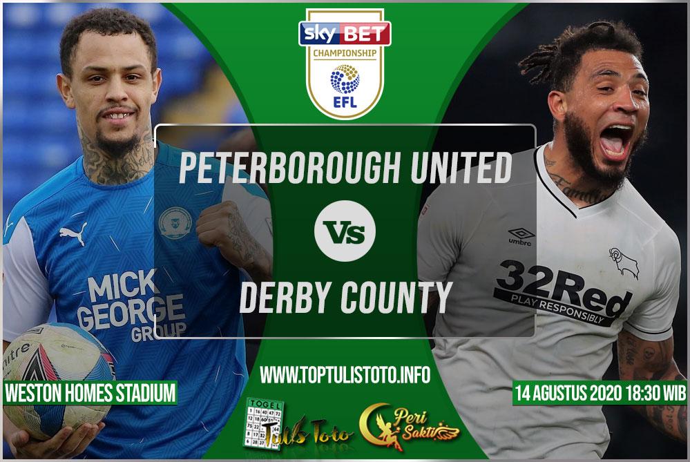 Prediksi Peterborough United vs Derby County 14 Agustus 2021
