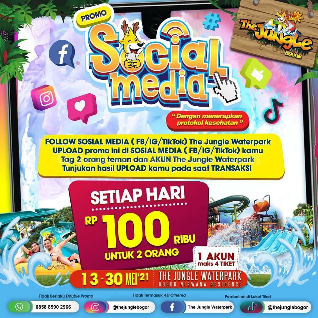 The Jungle SOSMED Promo SOCIAL MEDIA – HEMAT Berdua Rp.100K untuk 2 orang