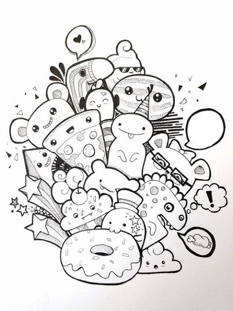 Gambar doodle mudah banget
