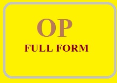 OP full form
