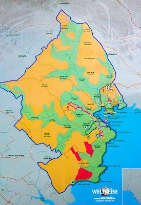 Map of parc natural de mondragó