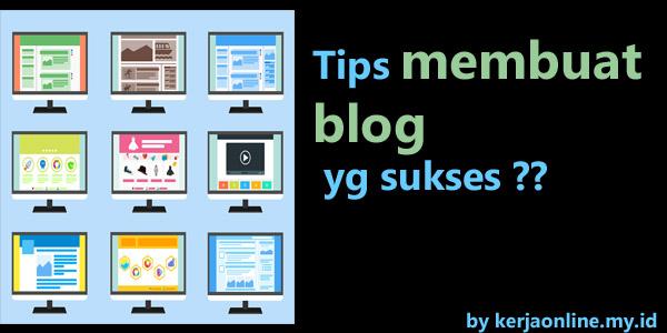 Membuat blog yang sukses