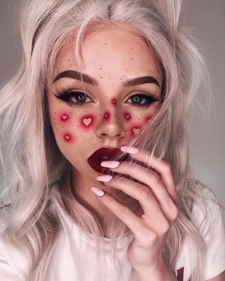 Heart shape Halloween makeup ideas to try out