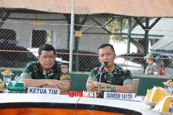Danrem 141/TP, Sambut Ketua Tim Current Audit Di Makorem