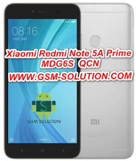 Xiaomi Redmi Note 5A Prime MDG6S Qcn File For Imei Null Fix Download