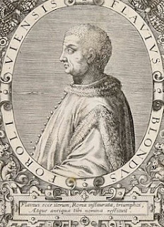 Flavio Biondo was the first historian to write about the period known as the Middle Ages