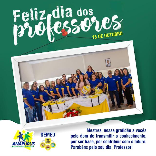Homenagem da Prefeita, Professora Vanderly aos Professores Anapuruenses.