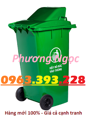 Thùng rác nhựa 240L nắp hở, thùng rác 240 Lít nhựa HDPE, thùng rác nắp hở TRNH240L3