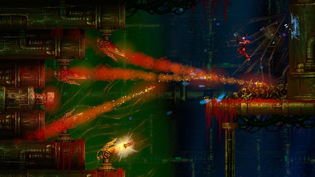 Valfaris is a two-dimensional action-platformer that will send you to conquer the depths of large-scale outer space.