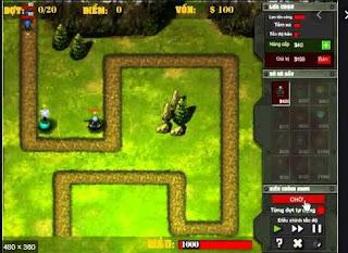Chơi game chiến tuyến phòng thủ hấp dẫn