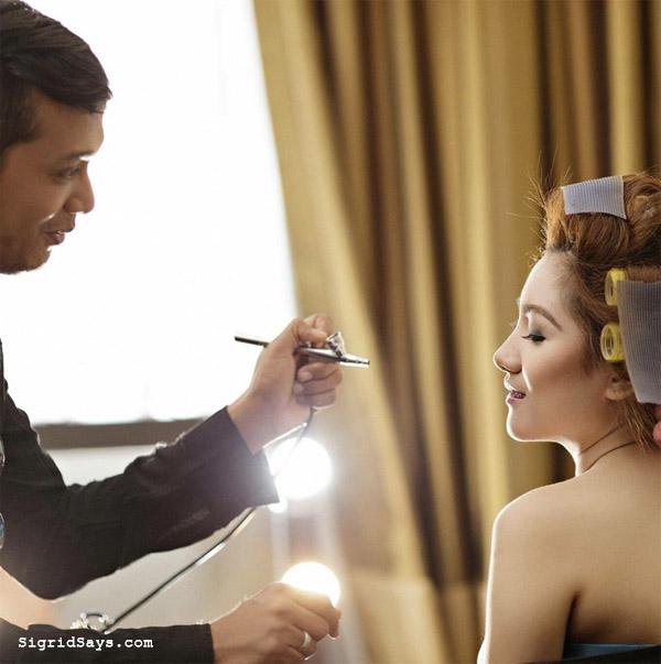 airbrush makeup - bridal make up - Bacolod wedding suppliers - Julius Ledesma