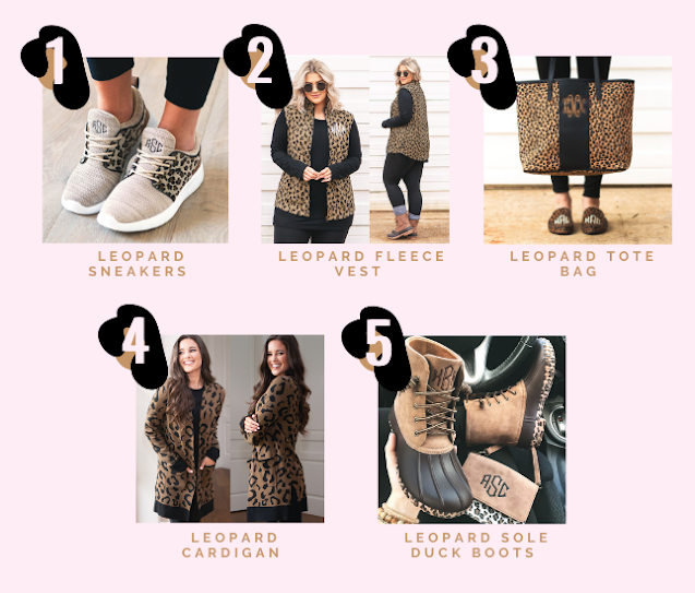 Pictures of Monogrammed Leopard Must-Haves