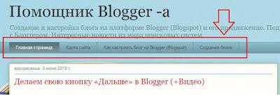 Горизонтальное расположение списка категорий блога