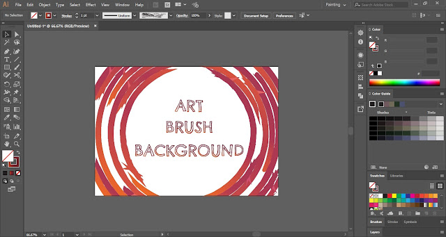 Background with Art Brush in Adobe Illustrator