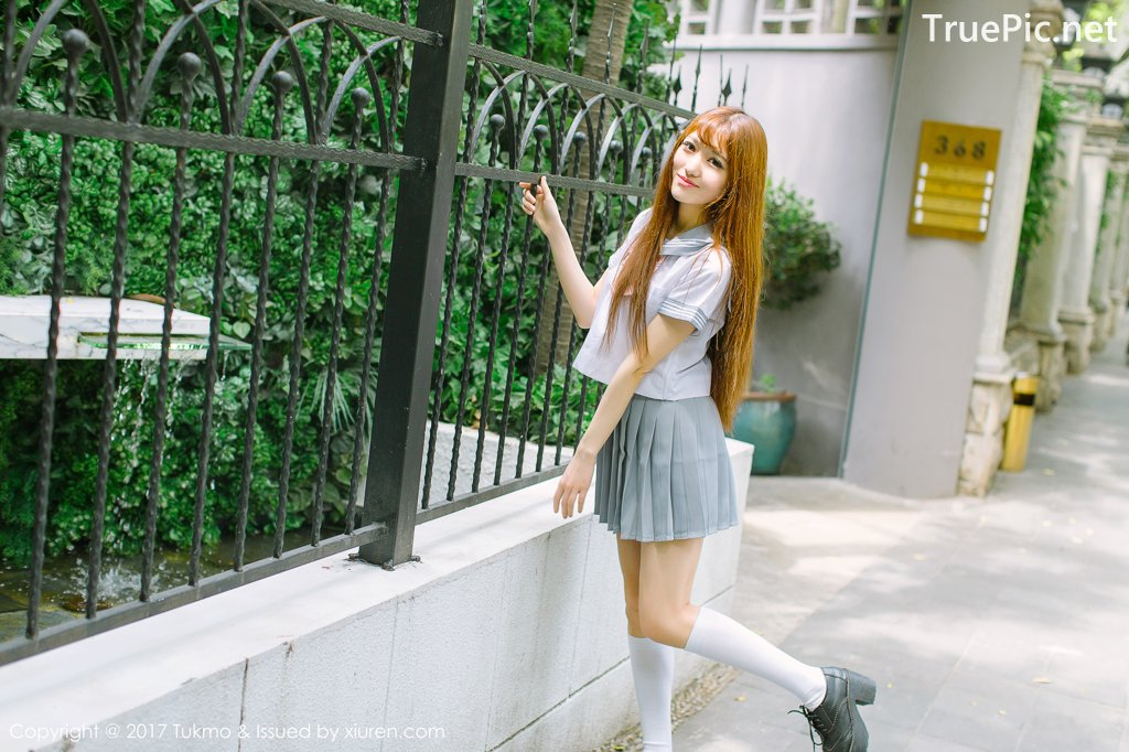 Image-Tukmo-Vol-094-Model-Zhao-Nai-Ying-赵乃莹-Lovely-School-Girl-With-Student-Uniform-TruePic.net- Picture-1