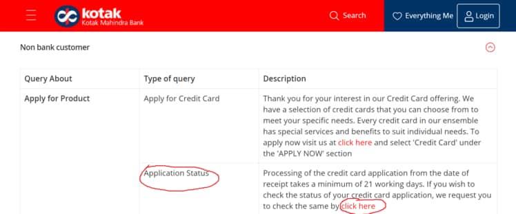 Credit Card Application Status Online Process