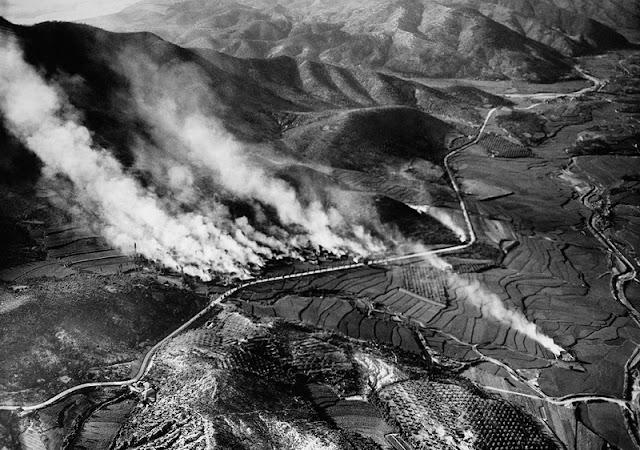 Foto aérea tomada por un equipo de reconocimiento en los primeros días de la guerra