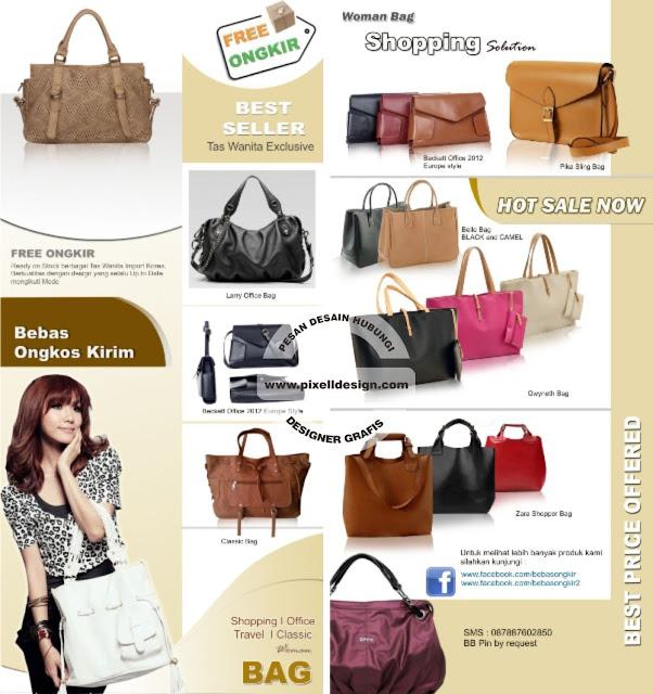 Iklan Brosur Tas Wanita Fashion