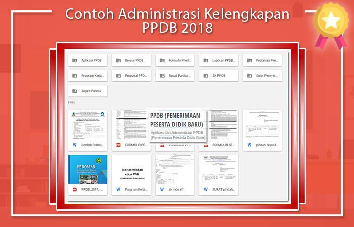 Contoh Administrasi Kelengkapan PPDB 2018