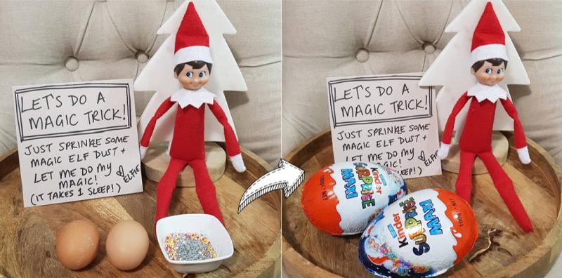 elf on the shelf kind surprise magic trick