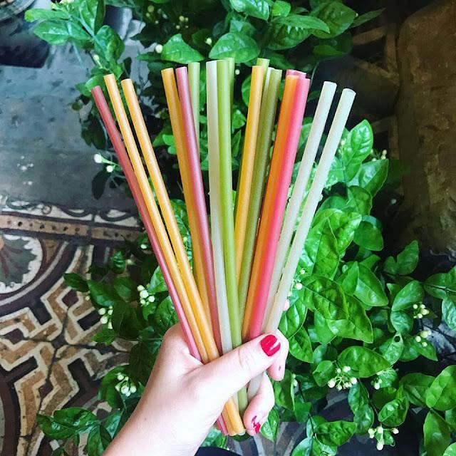 Hàng loạt quán cafe từ bỏ ống hút nhựa để đổi sang ống hút cỏ, ống hút tre 6