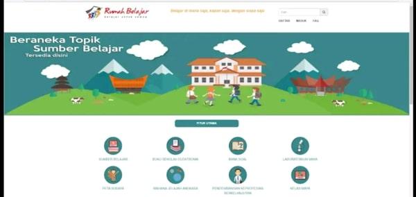 Rumah Belajar salah satu aplikasi belajar online terbaik