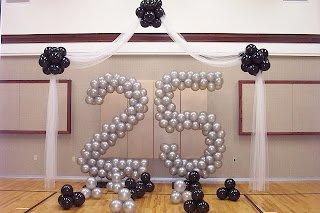 dekorasi balon ulang tahun bentuk angka